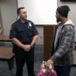 Inkster Michigan man thanks officer who bought his daughter a car seat